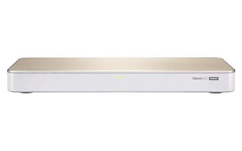 QNAP HS-453DX-8G lüfterloses Multimedia NAS-System, hybride...
