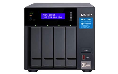 QNAP TVS-472XT-PT-4G Turbo NAS | Dual-Core 3,1GHz Prozessor,...