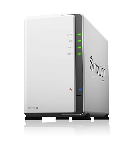 Synology DS220J 2 Bay Desktop-NAS-Gehäuse