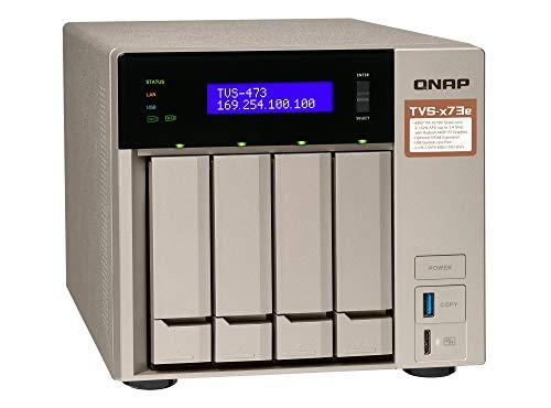 QNAP TVS-473e-4G Desktop NAS Gehäuse mit 4 GB DDR4,...