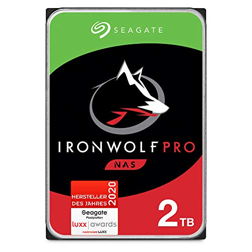 Seagate IronWolf Pro, NAS interne Festplatte 2 TB HDD, 3.5...