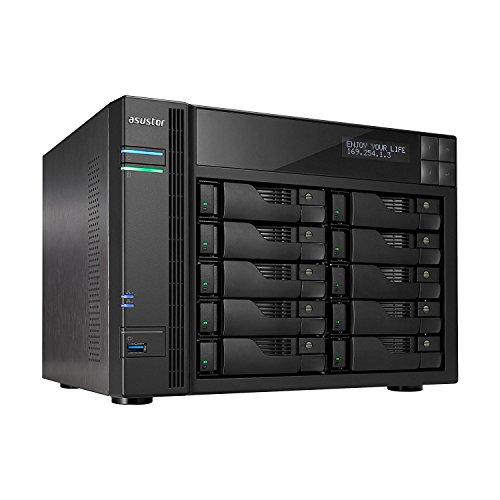 Asustor AS6210T 10-Bay NAS System (Intel Celeron Quad-Core...