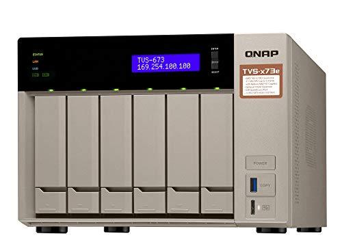 QNAP TVS - 673E NAS Tower Ethernet LAN Grey