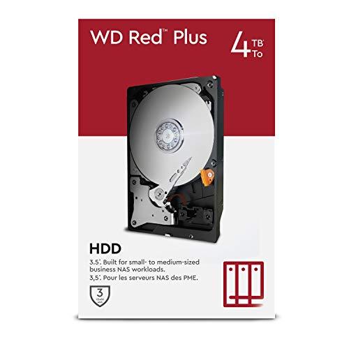WD Red Plus 4TB NAS 3.5' Interne Festplatte – 5.400 RPM...