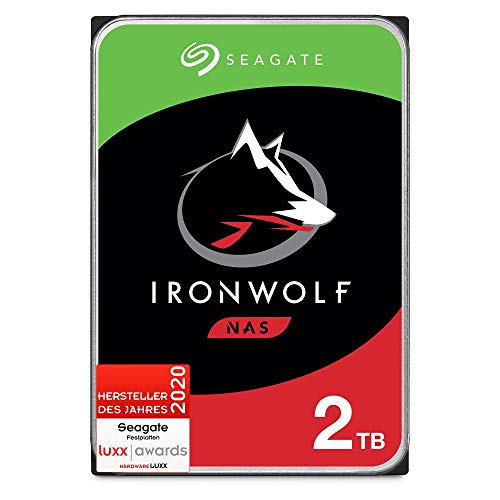Seagate IronWolf, NAS interne Festplatte 2 TB HDD, 3,5 Zoll,...