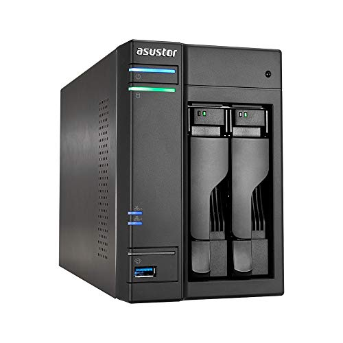 Asustor AS6302T 2-Bay NAS System (Intel Celeron- Apollo...