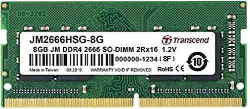Transcend JM2666HSB-8G Arbeitsspeicher 8 GB DDR4 2666 MHz...