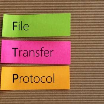FTP (File Transfer Protocol) auf Haftnotizen