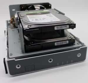 DS218j zwei Festplatten eingebaut