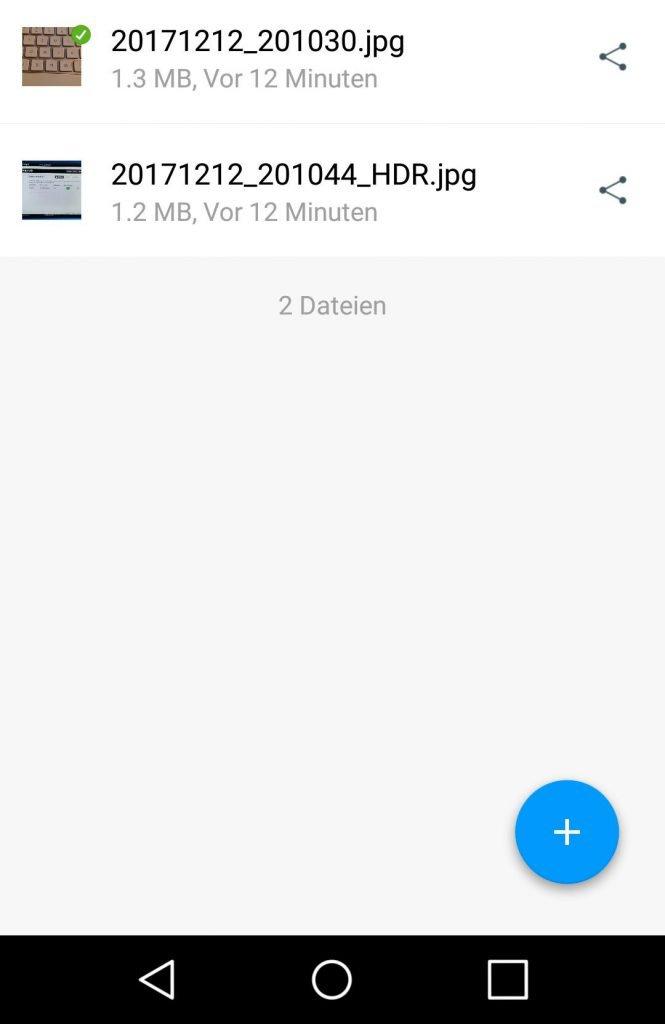 Drobo Access Android - Bilder
