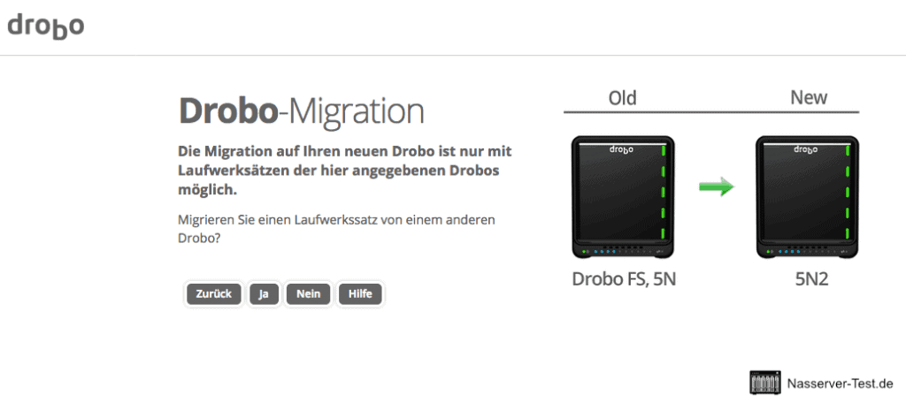 Drobo Assistent Migration