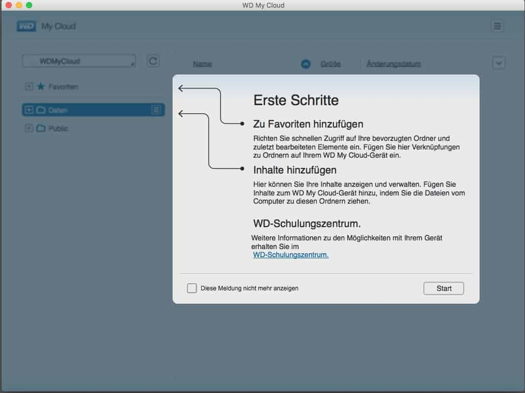 WD MyCloud Software Installations Hilfe