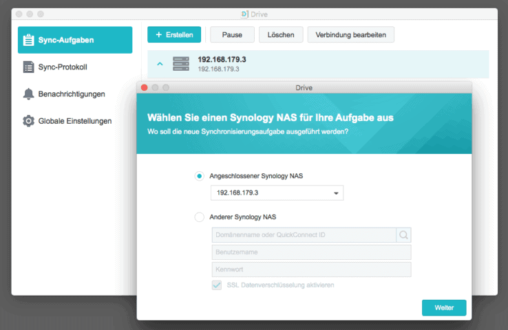 Synology Drive und Moments