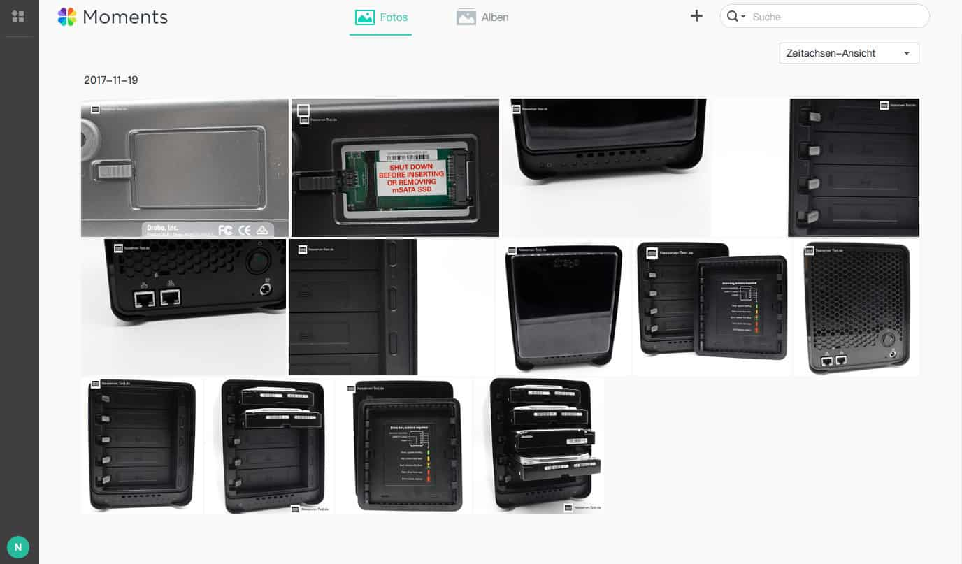 Synology Moments Foto Ansicht