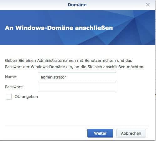 Beitritt zu Domänen und LDAP-Diensten - An Windows Domäne anschließen