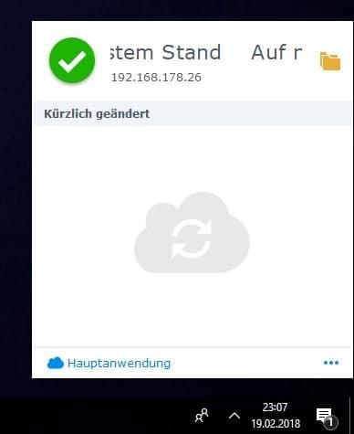 Einrichten einer NAS Cloud: Cloud Station Drive Menü
