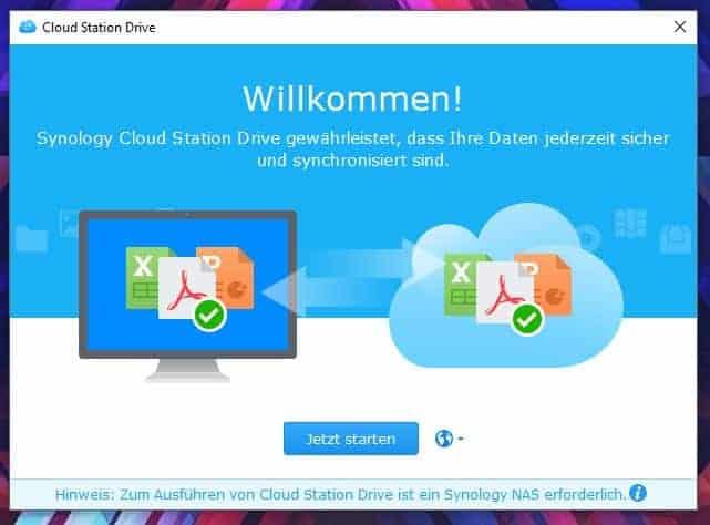 Einrichten einer NAS Cloud: Cloud Station Drive