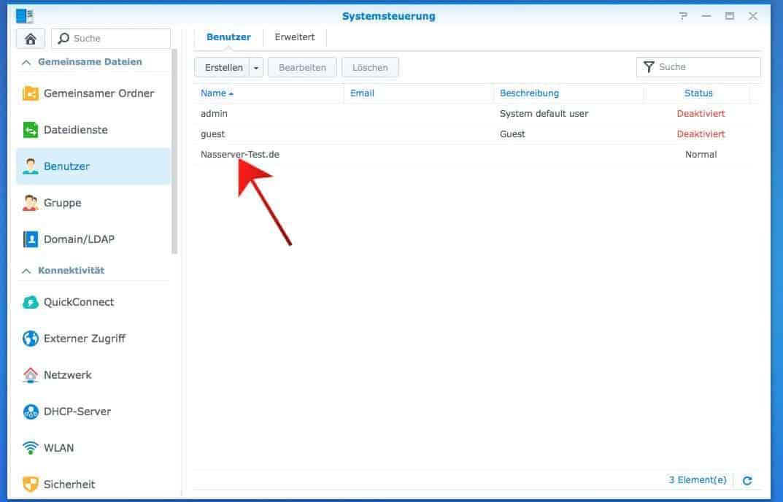 Einrichten eines FTP:  Benutzer Einstellungen