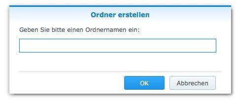 Gemeinsame Ordner: Filestation Ordner bennen