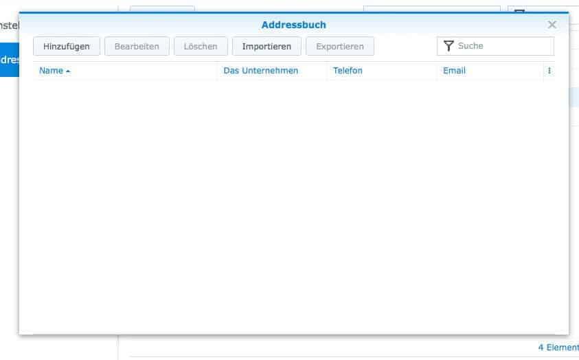 NAS CardDAV Server einrichten - Adressbuch