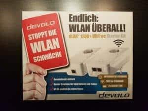 Devolo dLAN 1200+ WiFi ac Starter Kit Verpackung Front