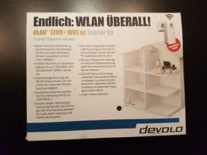 Devolo dLAN 1200+ WiFi ac Starter Kit Verpackung Rückseite
