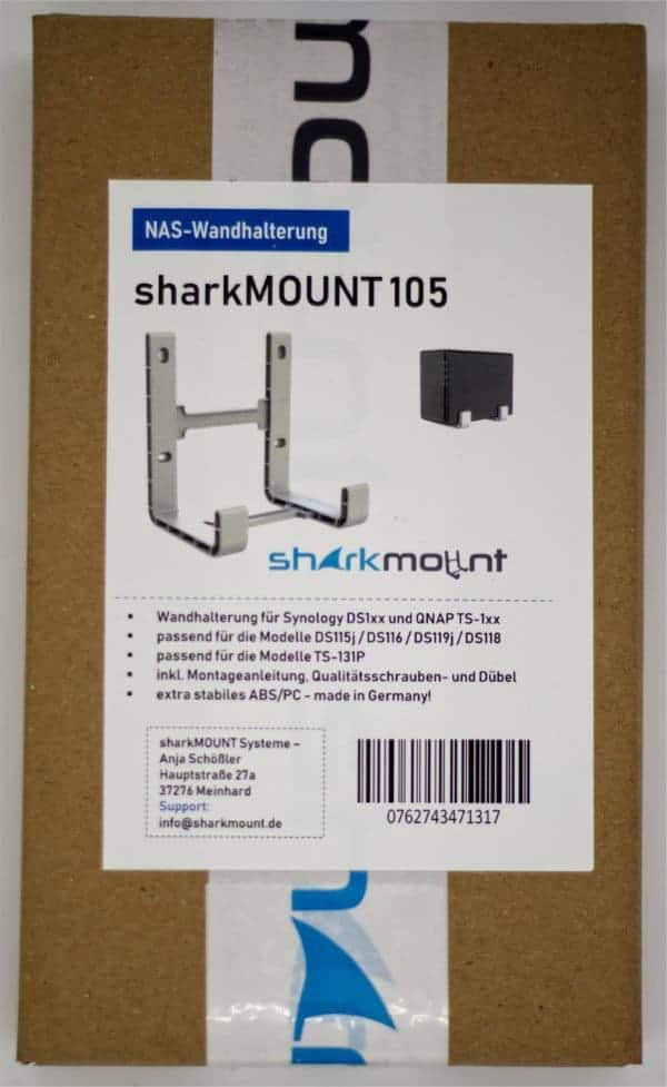 Sharkmount 105 mit Verpackung